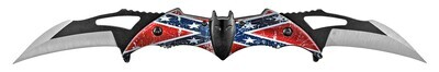 Confederate Bat Dual Pocket Knife