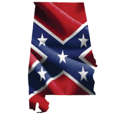Confederate Alabama - Square Sticker by Dixie Outfitters®
