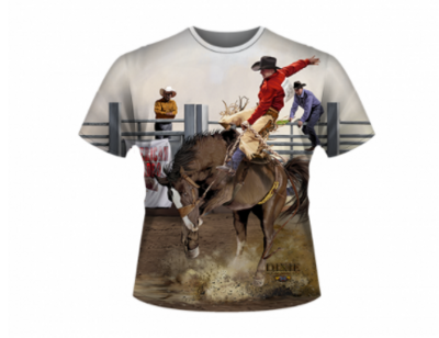 Bronc Riding All Over Shirt by Dixie Outfitters®