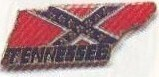 Battle Flag With Tennessee Shape Lapel Pin