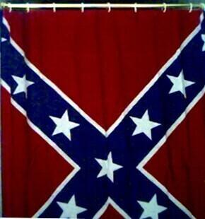 Battle Flag Shower Curtain - Full Length