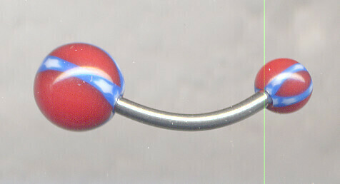 Battle Flag Belly Button Jewelry 12mm