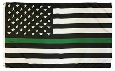 American Military Lives Matter Flag (Green Line)