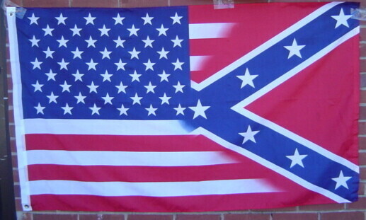 American / Battle Flag Combo - 50/50 Flag