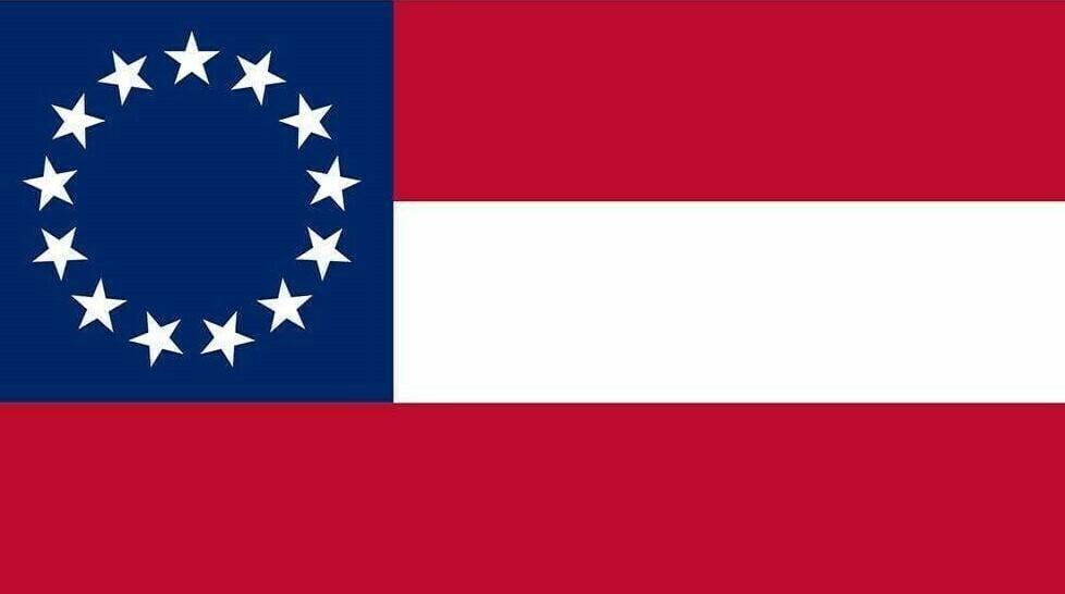 1st National w/ 13 Stars Flag