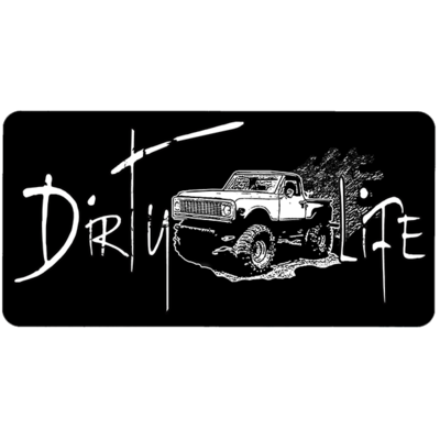 Dirty Life Aluminum Car Tag by Dixie Outfitters®