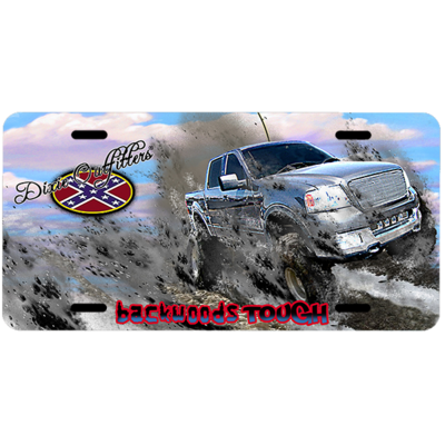 Backwoods Tough Aluminum Car Tag by Dixie Outfitters®