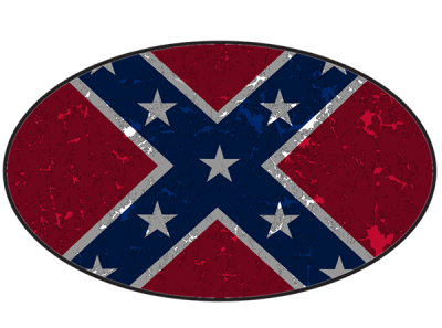 Rebel Flag Oval Sticker by Dixie Outfitters®