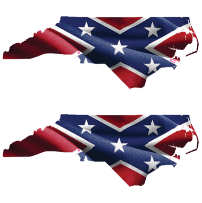 Confederate North Carolina - Square Sticker by Dixie Outfitters®
