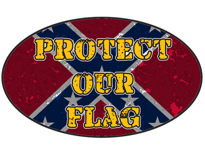 Protect Our Flag Oval Sticker by Dixie Outfitters®