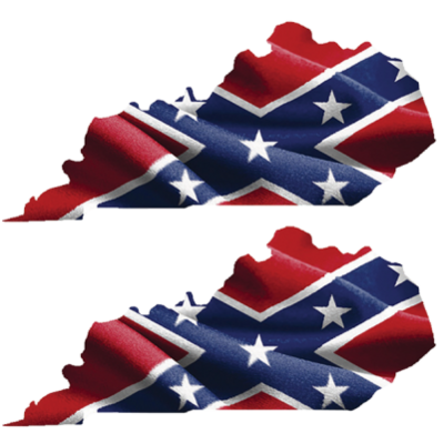 Confederate Kentucky - Square Sticker by Dixie Outfitters®