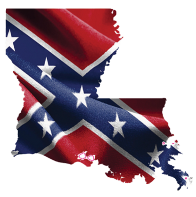 Confederate Louisiana Sticker by Dixie Outfitters®