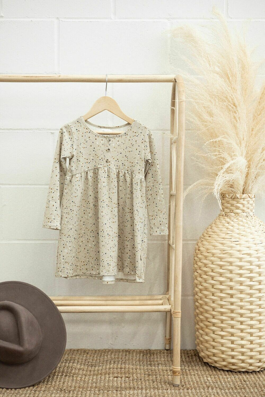 Peplum Button Dress