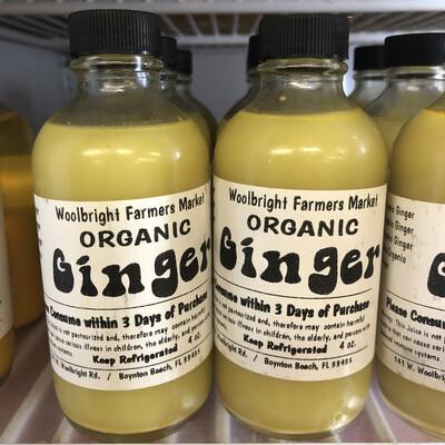 Juice Shot Ginger RAW ORGANIC 4 oz.