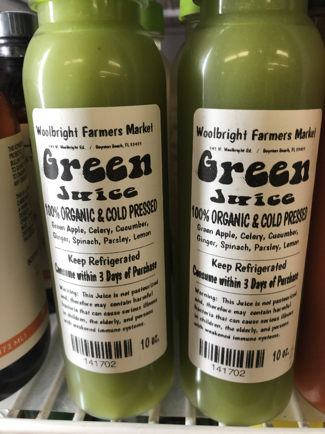 Juice Green RAW ORGANIC 10 Oz.