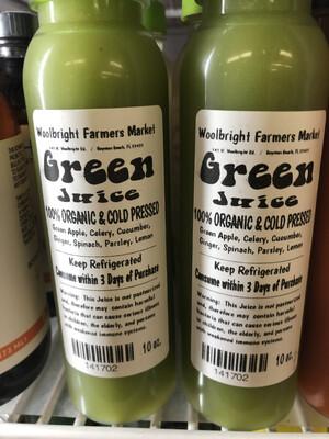 Juice Green RAW ORGANIC 10 Oz.