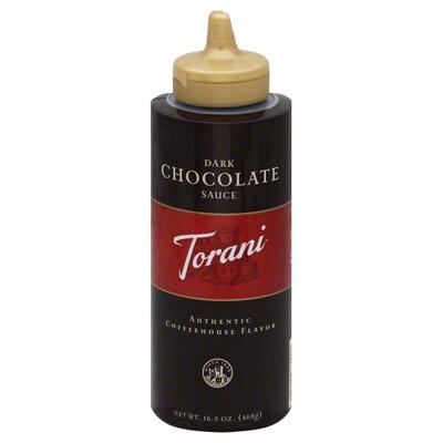 Chocolate Sauce Dark Puremade Torani 16.5 oz.