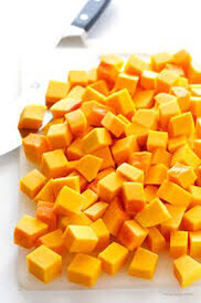 Butternut Squash Peeled and Cubed ORGANIC