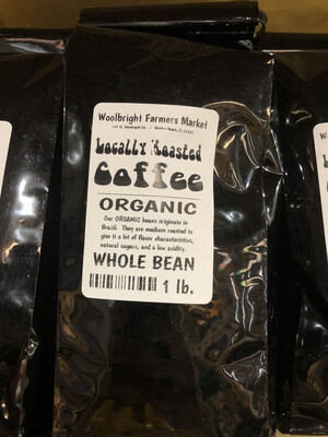 Coffee 1 lb. Whole Bean LOCAL ORGANIC