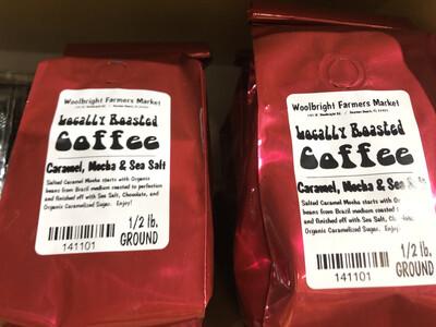 Coffee 1/2 lb. Caramel, Mocha, Sea Salt LOCAL