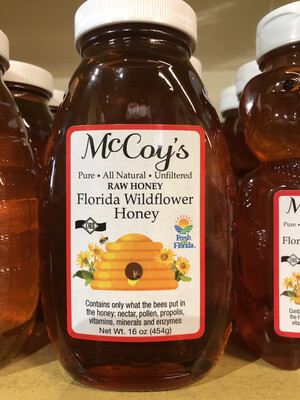 Honey McCoy's 1 lb. Glass Wildflower LOCAL