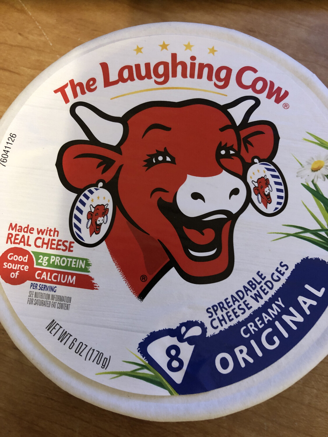 Cheese Spreadable Wedges Original Laughing Cow 6oz.