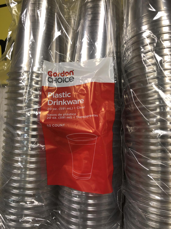 Cups Plastic 20 oz. 50ct