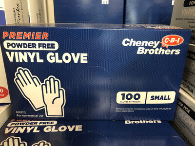 Gloves Vinyl Small 100ct