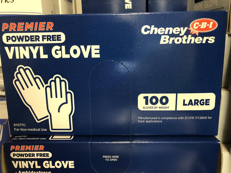 Gloves Vinyl Large 100ct