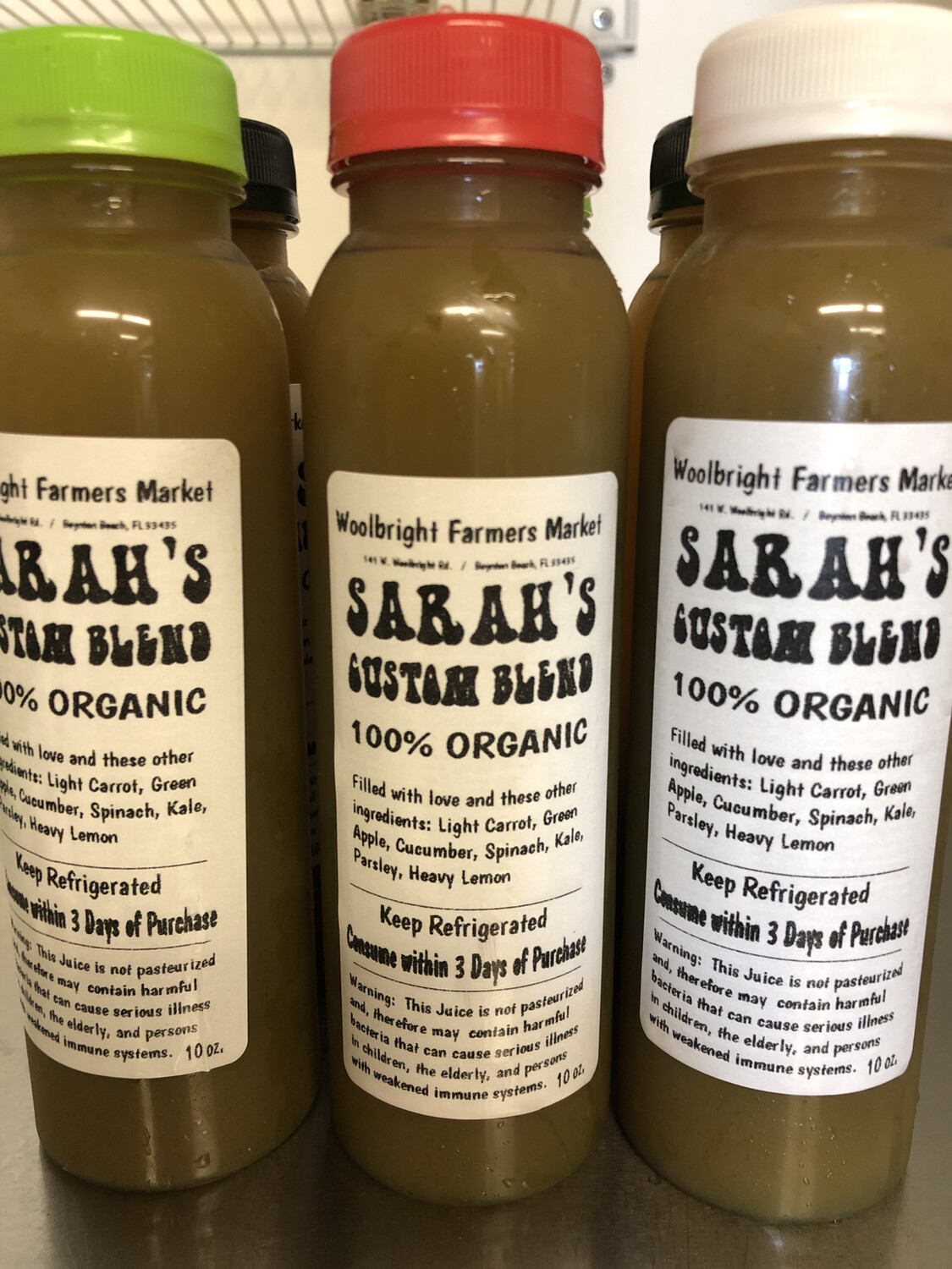 Juice Sarah's Blend RAW ORGANIC 10 Oz.