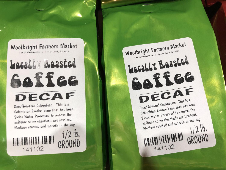 Coffee 1/2 lb. Decaf LOCAL
