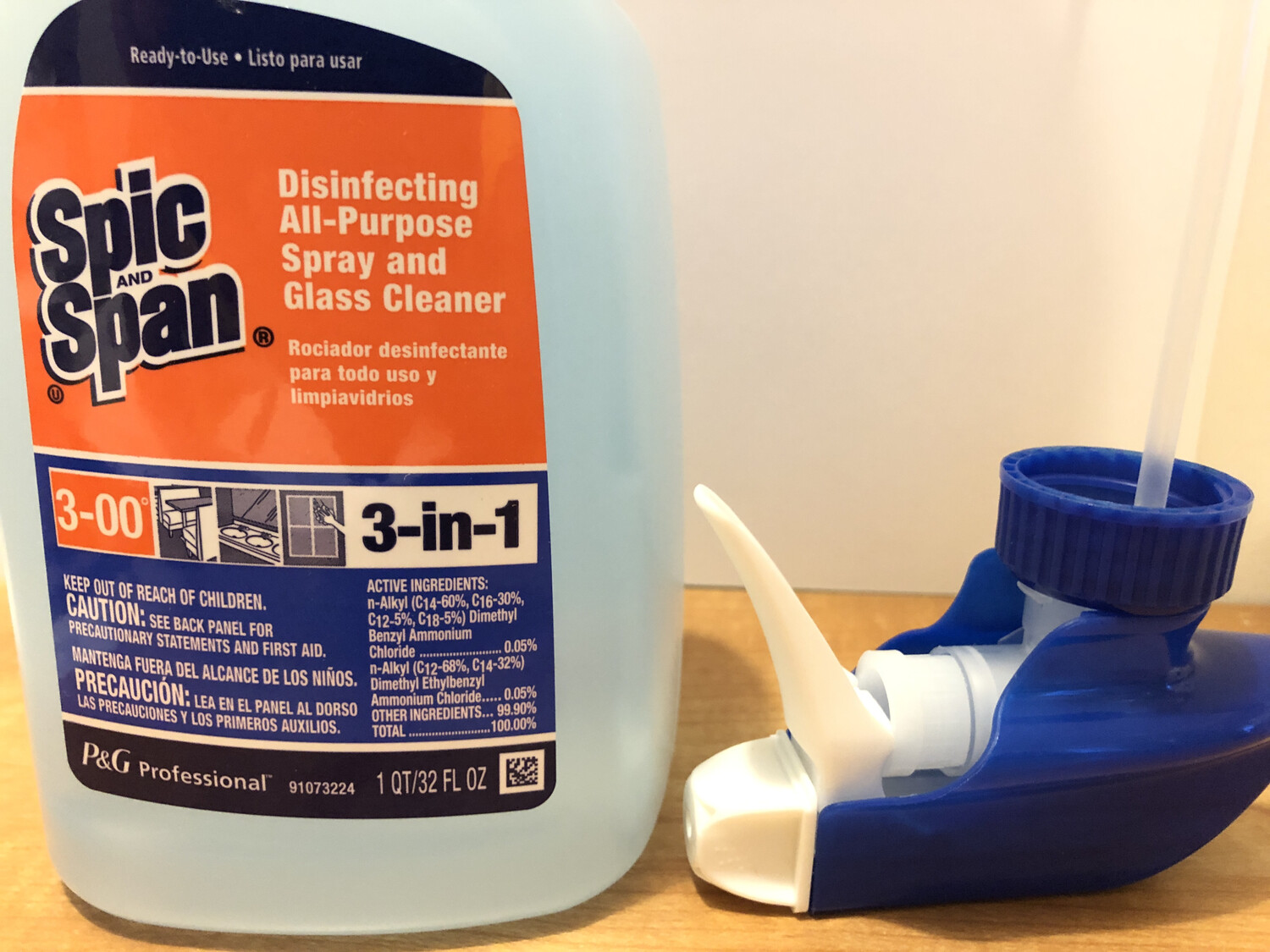 Cleaner All Purpose Disinfecting Spic & Span Spray 32oz. (2pack Only)