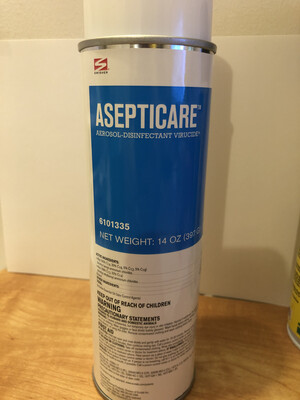 Disinfectant Aerosol Virucide Spray Asepticare 14 oz.