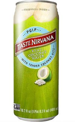 Coconut Water W/PULP Taste Nirvana Can 16.9 Oz.