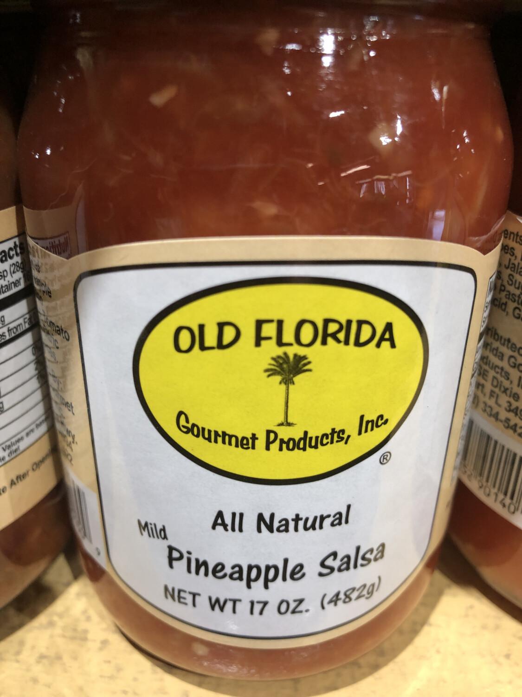 Salsa Pineapple Mild Old Florida 16oz. LOCAL