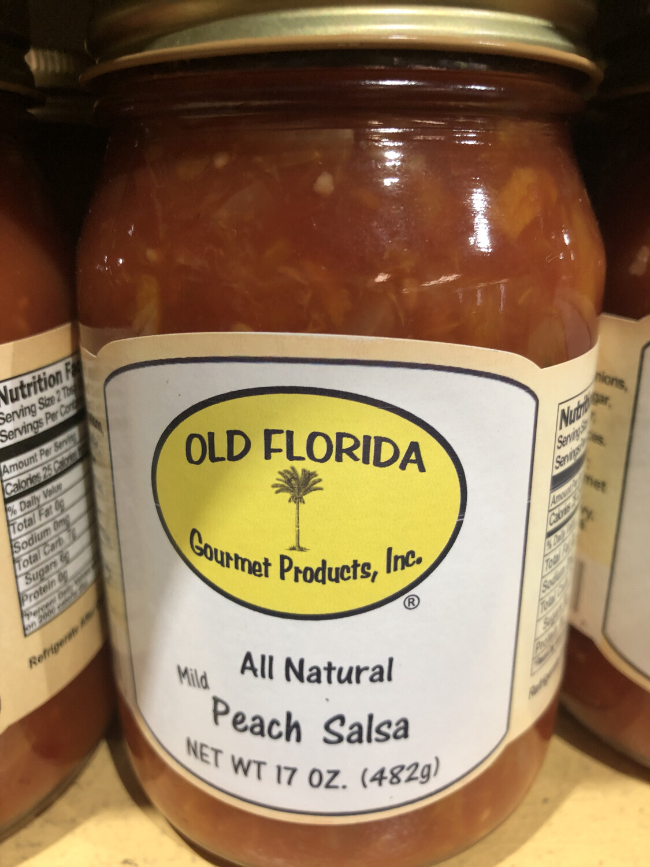Salsa Peach Mild Old Florida 16oz. LOCAL