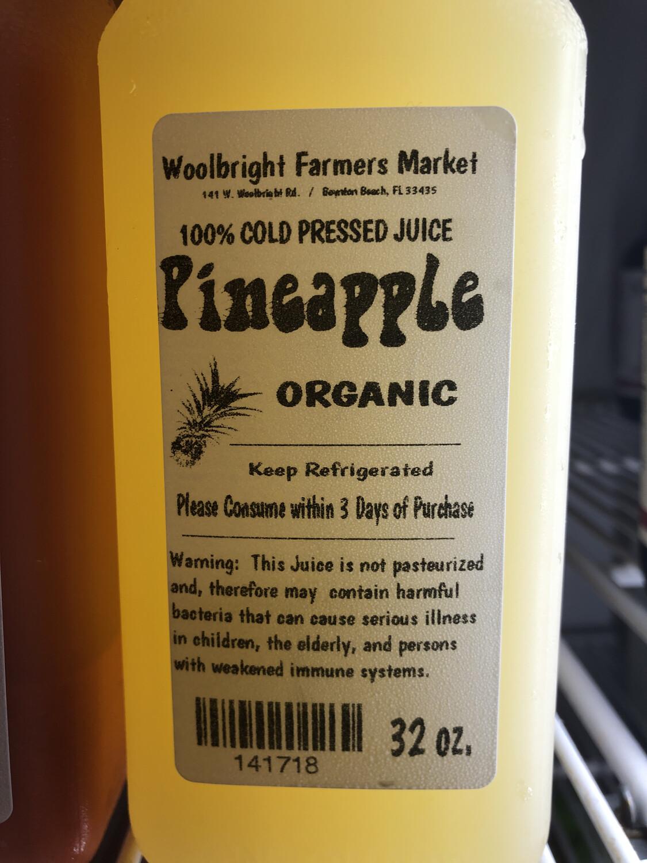 Juice Pineapple RAW ORGANIC 32 Oz.