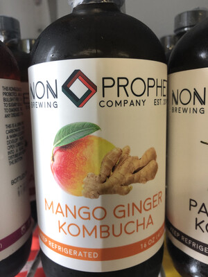 Kombucha Mango Ginger Non Prophet 16oz. LOCAL