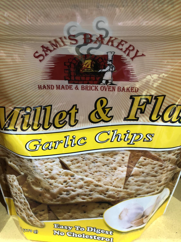 Samis Chips Millet & Flax Garlic