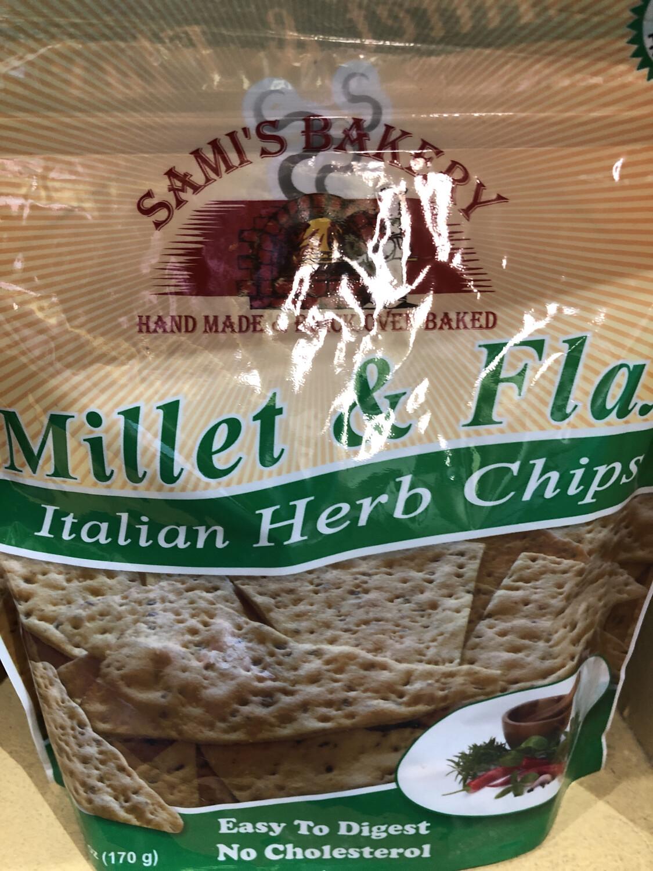 Samis Chips Millet & Flax Italian Herb