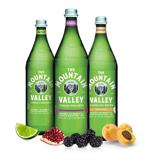 Water Mt. Valley 1 Liter Sparkling Blackberry Pomegranate