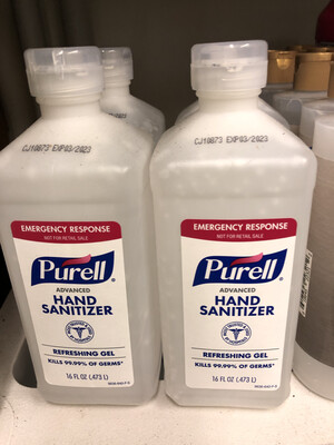 Sanitizer Hand Purell Flip Top 16 oz.