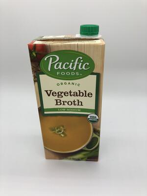Broth Vegetable Low Sodium 32oz. ORGANIC