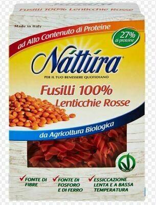 NATTURA Fusilli lentilles rouges décortiquées 250GR