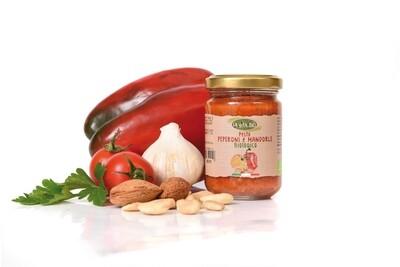 Pesto aux poivrons et amandes la vita Bio 130gr