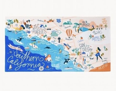 Southern California Beach Towel