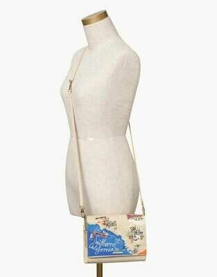 Southern California Embroidered Convertible Crossbody