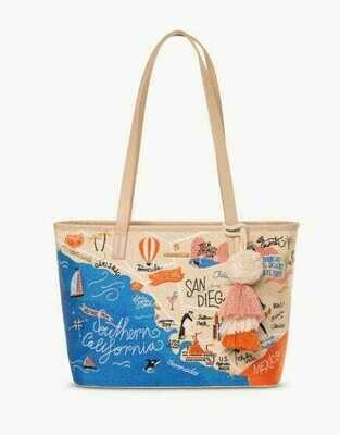 Southern California Embroidered Tote