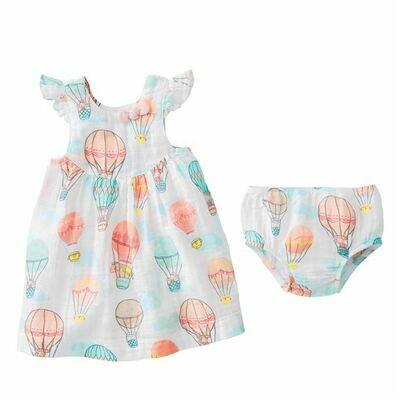 Balloon Muslin Dress 9-12 Months