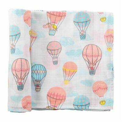 Balloon Muslin Swaddle Blanket